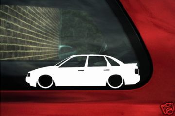 2x LOW Passat B3, 35i, saloon, outline silhouette stickers.For vw Passat B3 g60 syncro, TDI, VR6